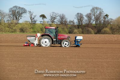 Image - Case tractor with a Reekie 2 row potato planter