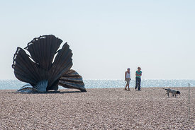 #73734,  'Scallop', a sculpture to celebrate Benjamin Britten by Maggi Hambling.  Made specifically for this site on the Suff...