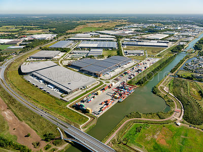 Tilburg, business park Vossenberg west I and II (1 and 2 ) rightfully the inland shipping container terminal at the Wilhelmin...