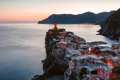 Dusk at the Cinque Terre, Liguria, Italy