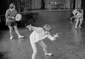 #83715,  Music & Movement, Whitworth Comprehensive School, Whitworth, Lancashire.  1970.  Shot for the book, 'Family and Scho...