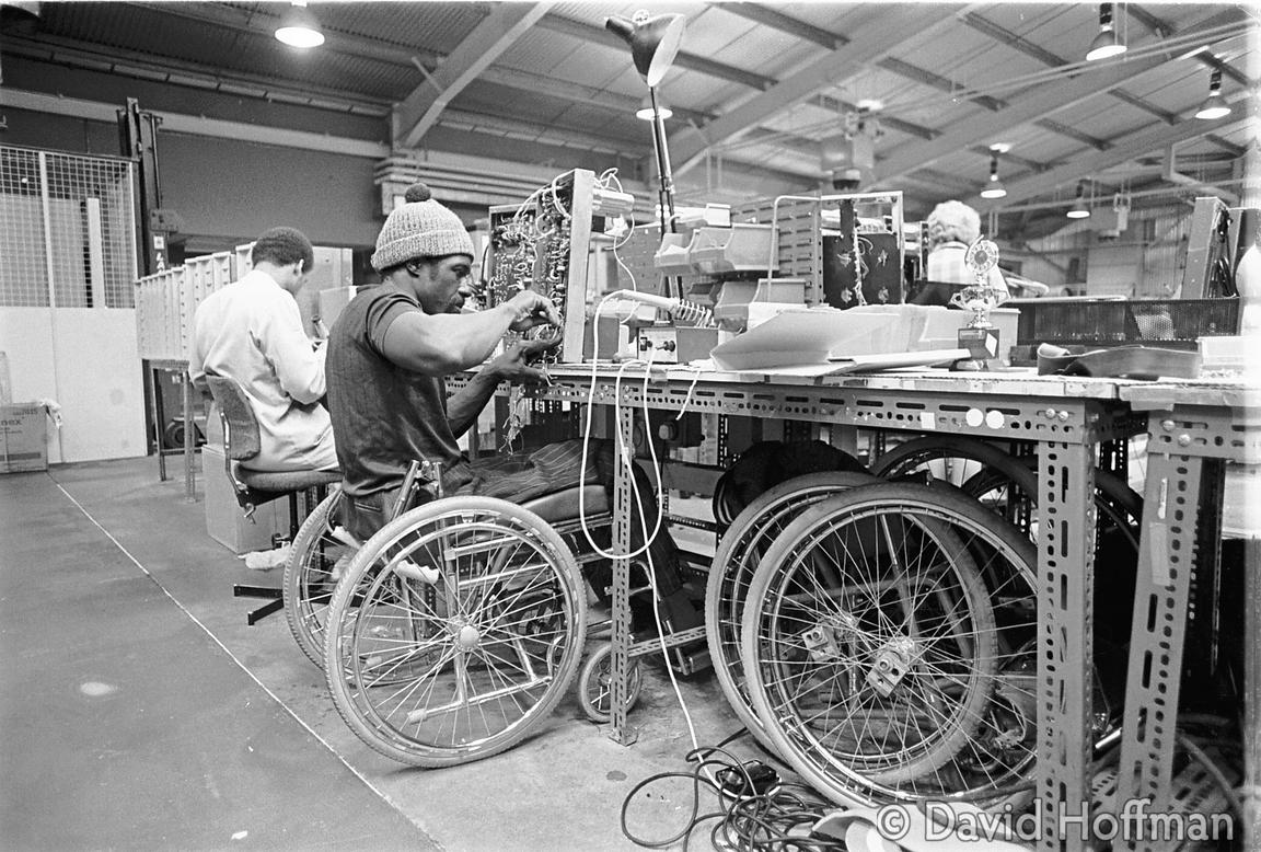 disabled man in factory