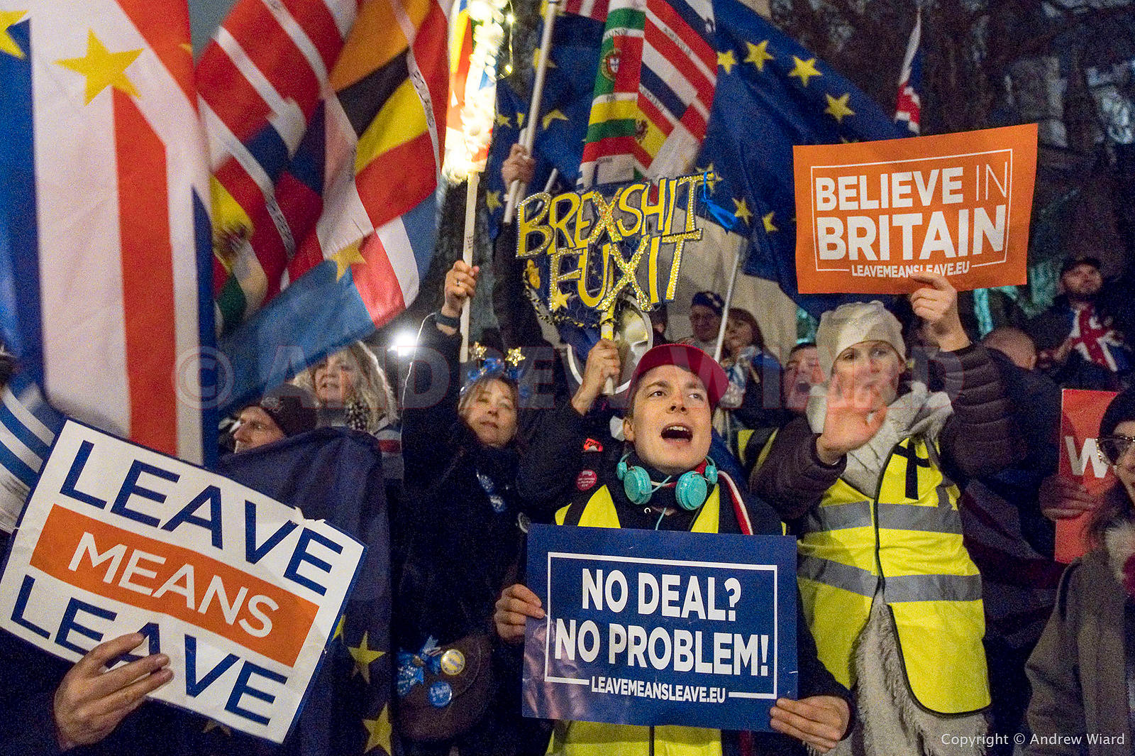 England, UK . 15.1. 2019. London . Westminster. Parliament votes on Theresa May's Brexit deal.