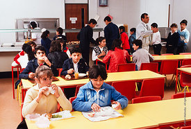 #4730,  Dining Room, block D, The Lord Byron School, Leninakan (now Gyumri), Armenia.  At 11.41am on the 7th December 1988, A...