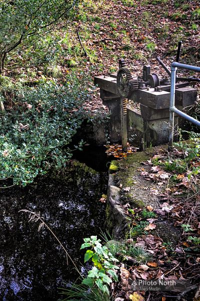 CALDER VALE 04A - Old mill race and sluice gate for Lappet Mill