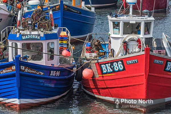 SEAHOUSES 05B - Fishing boats in Seahouses Harbour