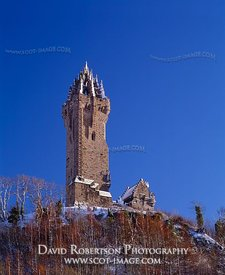 Image - Wallace Monument, Stirling, Scotland, Winter, snow