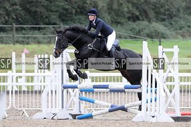 Stapleford Abbotts. United Kingdom. 04 October 2020. Unaffiliated showjumping. MANDATORY Credit Ellen Jameson/Sport in Pictur...