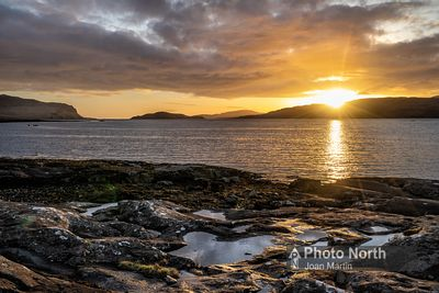 ISLE OF MULL 11B - Sunset over Loch na Keal