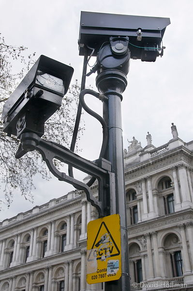 Security cameras, Whitehall, London.