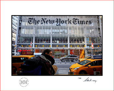 Linited edition wall print  New York, The New York Times