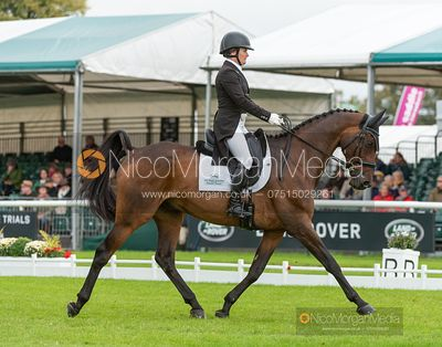 Hannah-Sue Burnett and HARBOUR PILOT - Dressage - Land Rover Burghley Horse Trials 2019