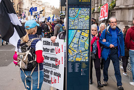 #124607,  Anti-Brexit march to Parliament Square, London, 23rd March 2019.  A million people of all ages marched demanding a ...