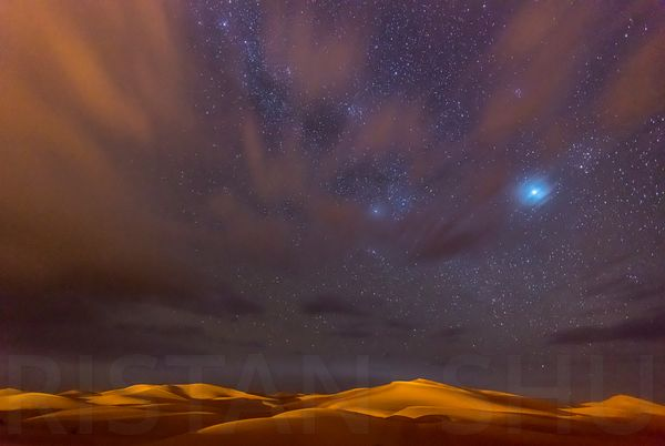 Stars, Dunes and Clouds in the desert