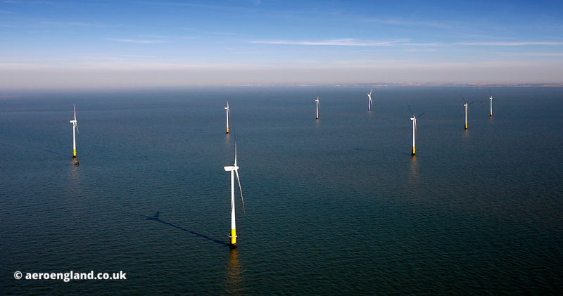 Kentish Flats Offshore Wind Farm aerial photograph