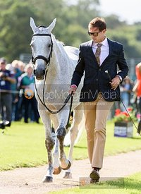 William Coleman and TIGHT LINES at the trot up, Land Rover Burghley Horse Trials 2019