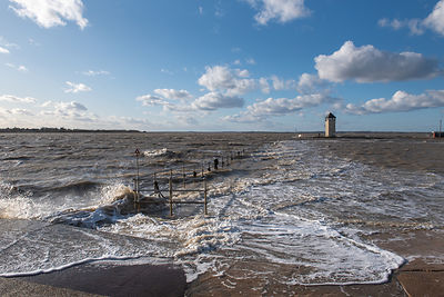 Storm surge flooding at Brightlingsea in Essex