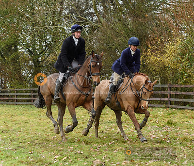 Richard Skelt, Emilie Chandler at Orton Park - The Cottesmore Hunt at Knossington 26/11