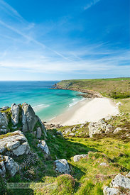 Gwynver (Gwenver) Beach, near Sennen, Cornwall - BP6742B