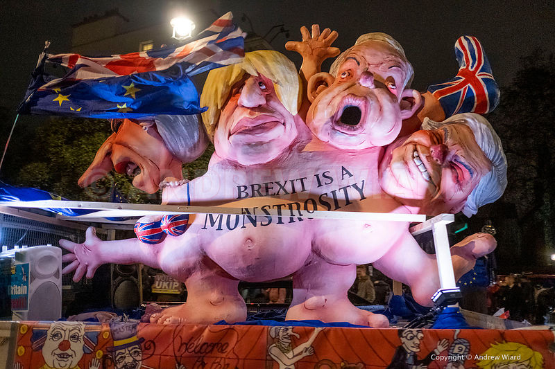 England, UK . 15.1. 2019. London . Westminster. Scene outside Parliament as MPs vote on Theresa May's Brexit deal..