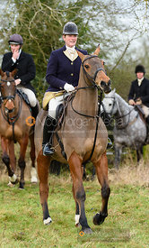 Beanie Sturgis at the meet. The Beaufort Hunt visit the Quorn at Cream Gorse 13/1