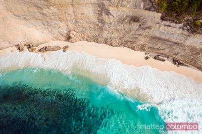 Diamond beach from the top, Nusa Penida, Bali, Indonesia