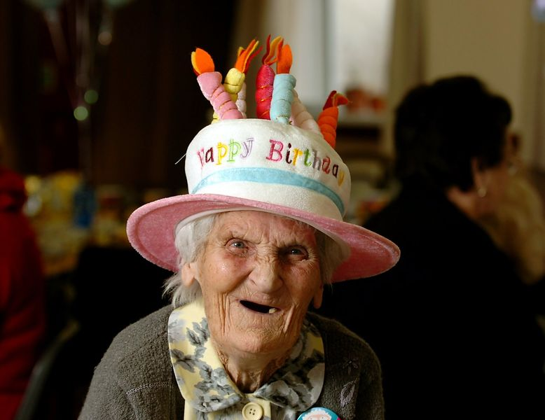 Monica Hopkins, who celebrates her 100 birthday today at the Blessed Sacrament Church Hall. Rumney. Picture : Liz pearce
