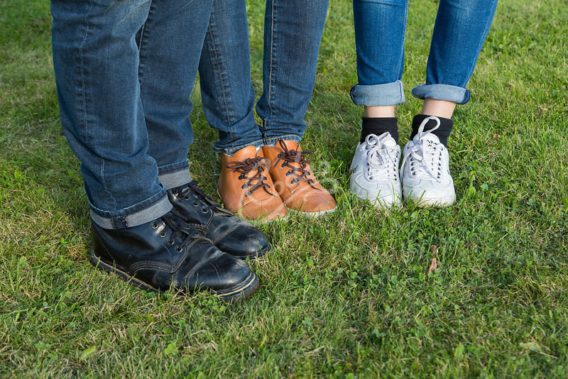 Family in shoes