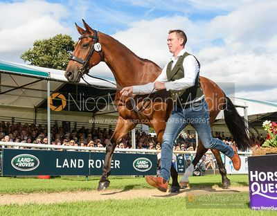Richard Skelt and CREDO III at the trot up, Land Rover Burghley Horse Trials 2019