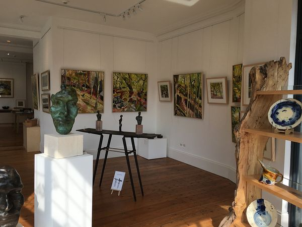 Michael Howard paintings with Tim Rawlins sculpture