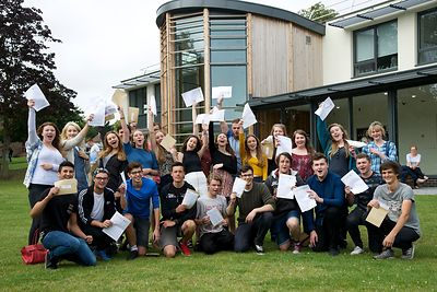 A-Level Results day at Paston College Lawns Site in North Walsham...Picture: MARK BULLIMORE