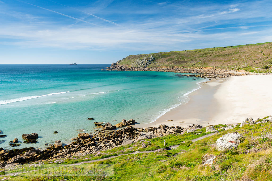 Gwynver (Gwenver) Beach, near Sennen, Cornwall - BP6736