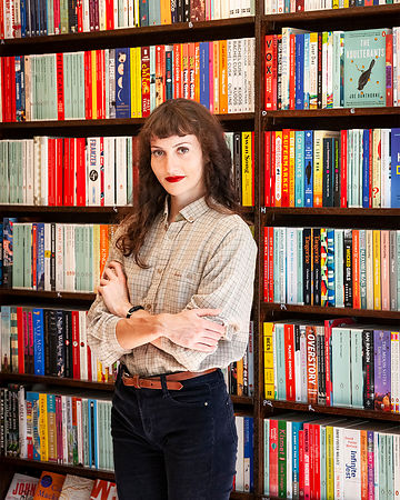 Portrait of Fran, Owner of The Margate Bookshop, for the Margate Mercury and literary festival