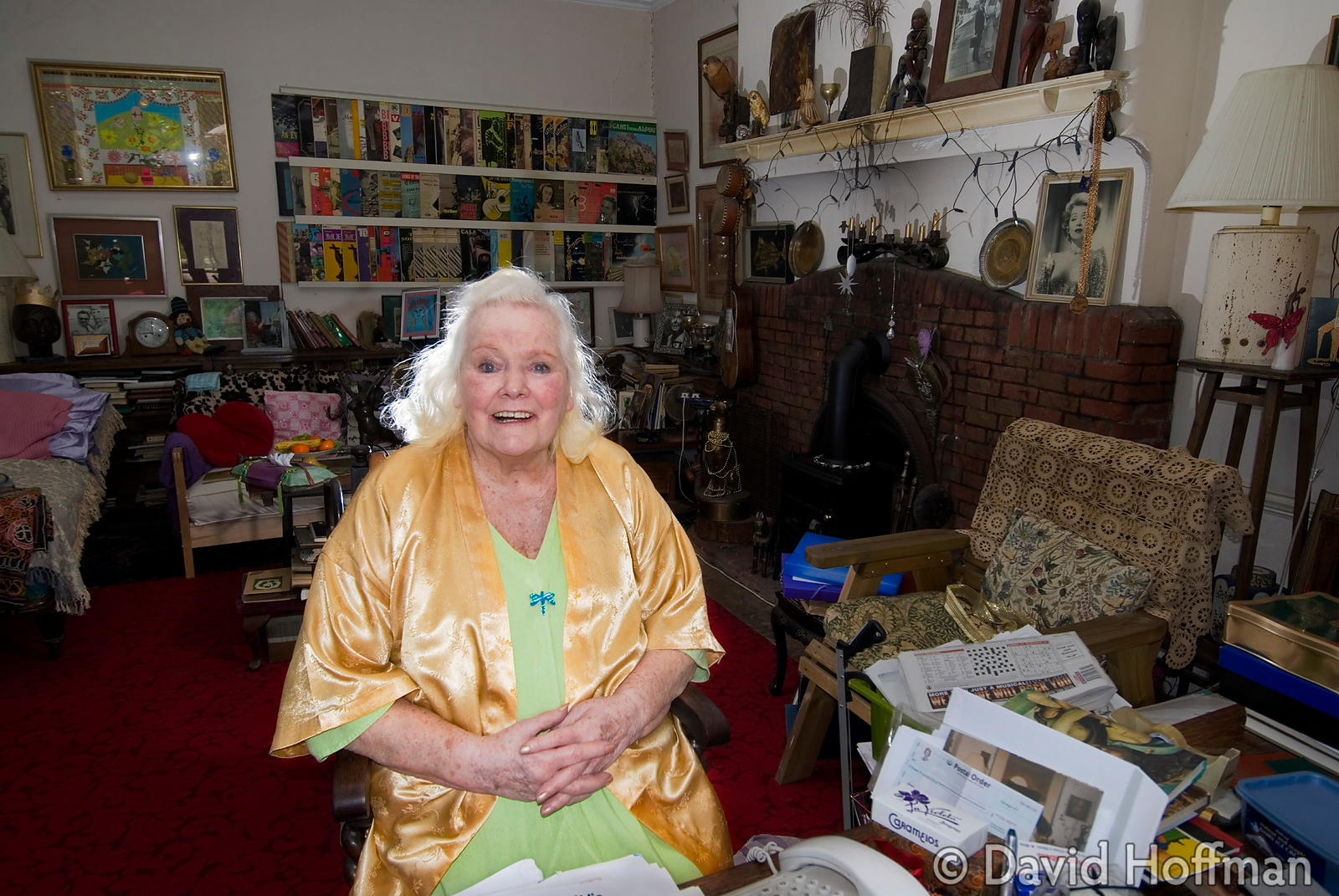 Joan Rhodes (13 April 1921 - 30 May 2010) at her home in London 5 April 2007