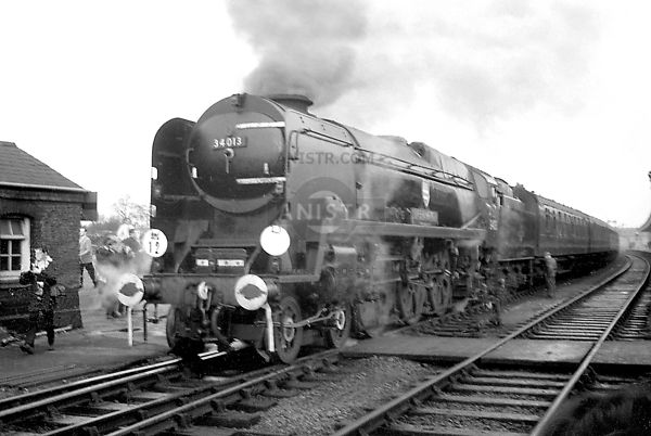 Steam loco WC 34013  Westbury