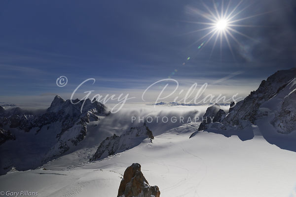 View from Mont Blanc, Chamonix