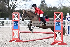 Stapleford Abbotts. United Kingdom. 11 April 2021. Unaffiliated showjumping. MANDATORY Credit Garry Bowden/Sport in Pictures ...