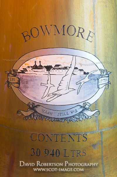 Image - Detail of still, Bowmore Distillery, Isle of Islay, Scotland