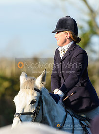 Rebecca Collie at the meet. The Quorn Hunt at Fox Covert Farm 10/1