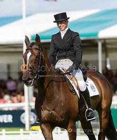 Katie Barber and WOODFIELD RIA - dressage - Land Rover Burghley Horse Trials 2016