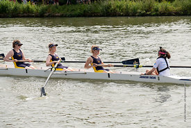 #124962,  University College boat.  The 'Summer Eights', a week of rowing races for the Oxford University Colleges on the riv...