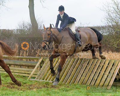 Annabel Bealby jumping a hunt jump after the meet