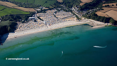 Pentewan Cornwall from the air