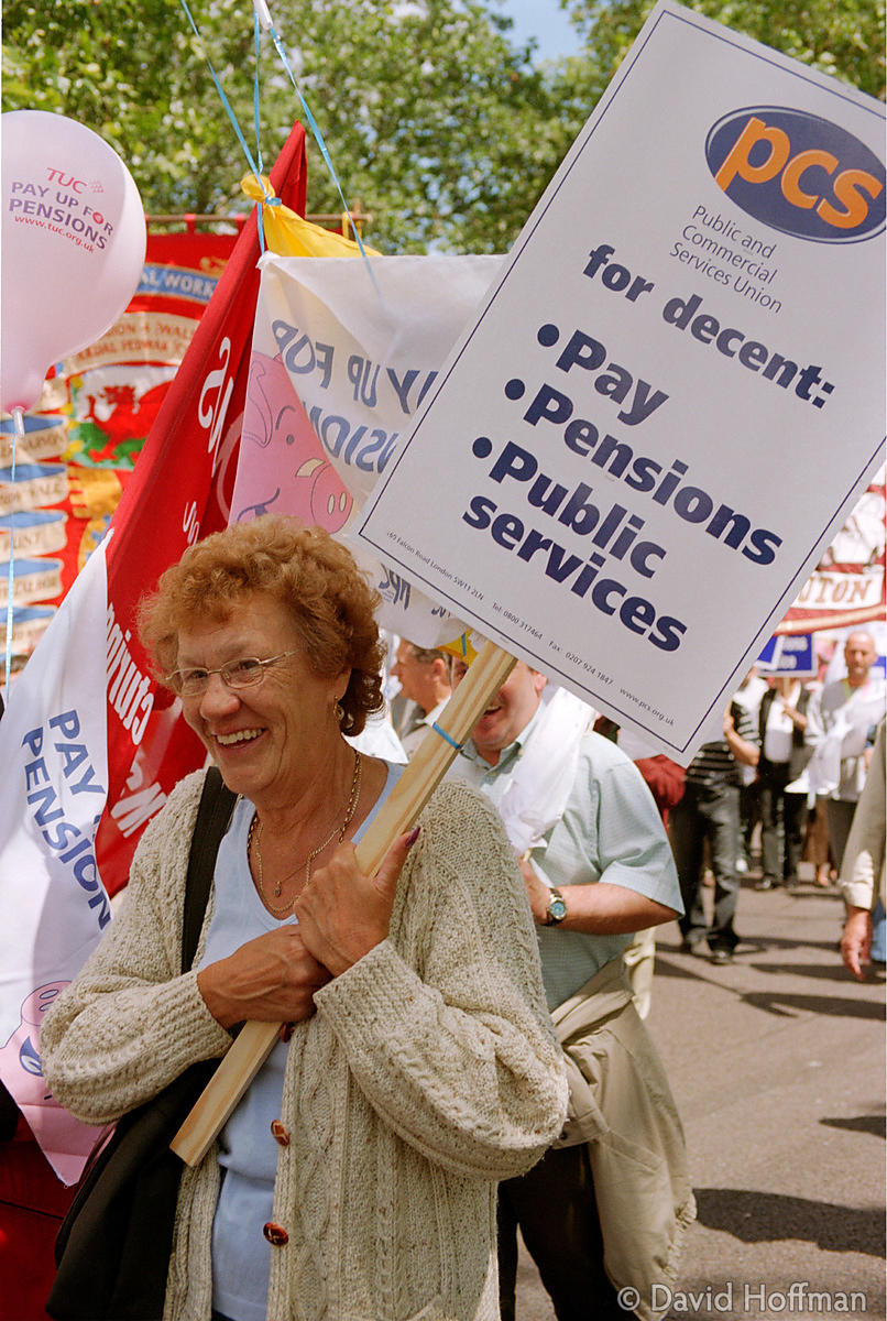 Pensioner's march June 19, 2004