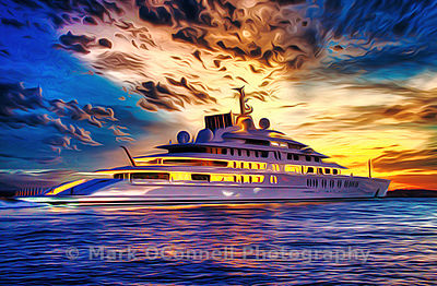 Superyacht, Assam,art,airbrush,painting,frame,poster,photos,images