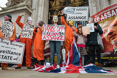 Julian Assange Extradition Protest