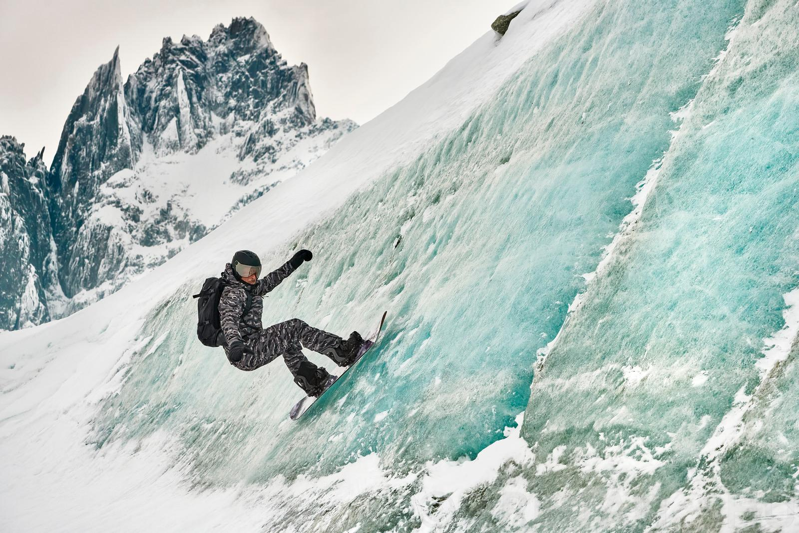 Ice Wall ride with Fabian Bodet