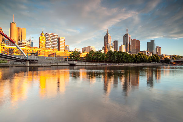 Melbourne and the Yarra River\