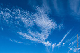 #69636,  Cirrocumulus and cirrus clouds.
