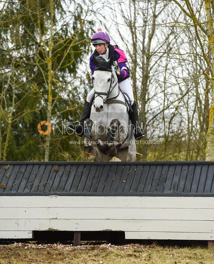 Ginny Howe and CRUISE ON INNY - Intermediate Sections - Oasby Horse Trials, March 2018.